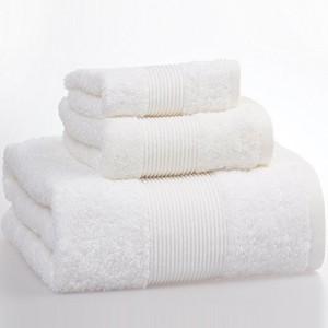 全棉緞檔毛巾